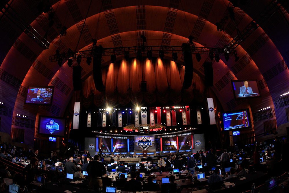 A general view of the Draft stage during the 2011 NFL Draft at Radio City Music Hall on April 28, 2011 in New York City.  (Photo by Chris Trotman/Getty Images)