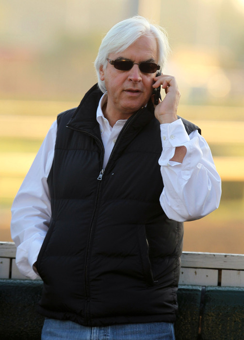 Bob Baffert's Game On Dude is one of the favorites for today's Grade 1 Pacific Classic at Del Mar.