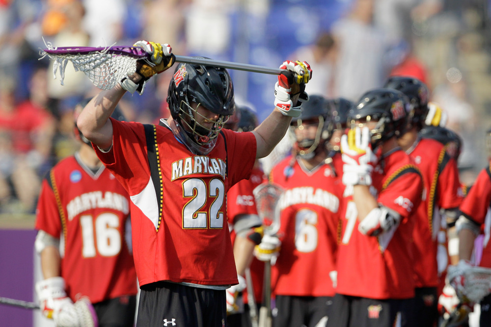 BALTIMORE, MD - MAY 30: Mark White #22 of the Maryland Terrapins hangs his head after losing to the Virginia Cavaliers 9-7 at M&T Bank Stadium on May 30, 2011 in Baltimore, Maryland. (Photo by Rob Carr/Getty Images)