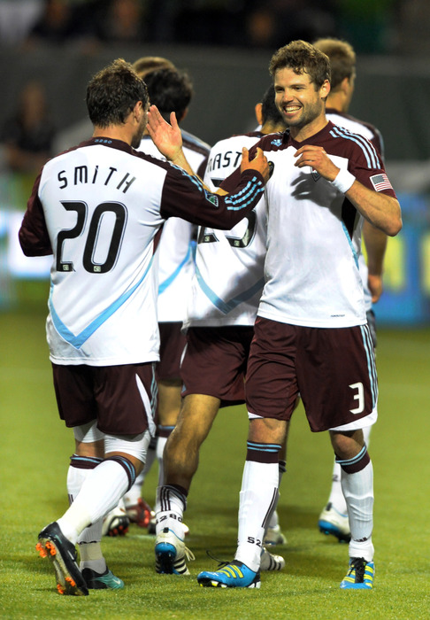 The Colorado Rapids will take on the Columbus Crew tomorrow night to see who will face Sporting KC in the semifinals.(Photo by Steve Dykes/Getty Images)