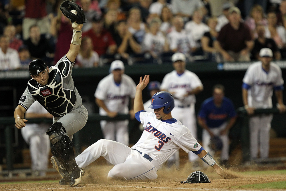 Will Seattle grab Florida catcher Mike Zunino 3rd overall like many expect? (Photo by Ronald Martinez/Getty Images)