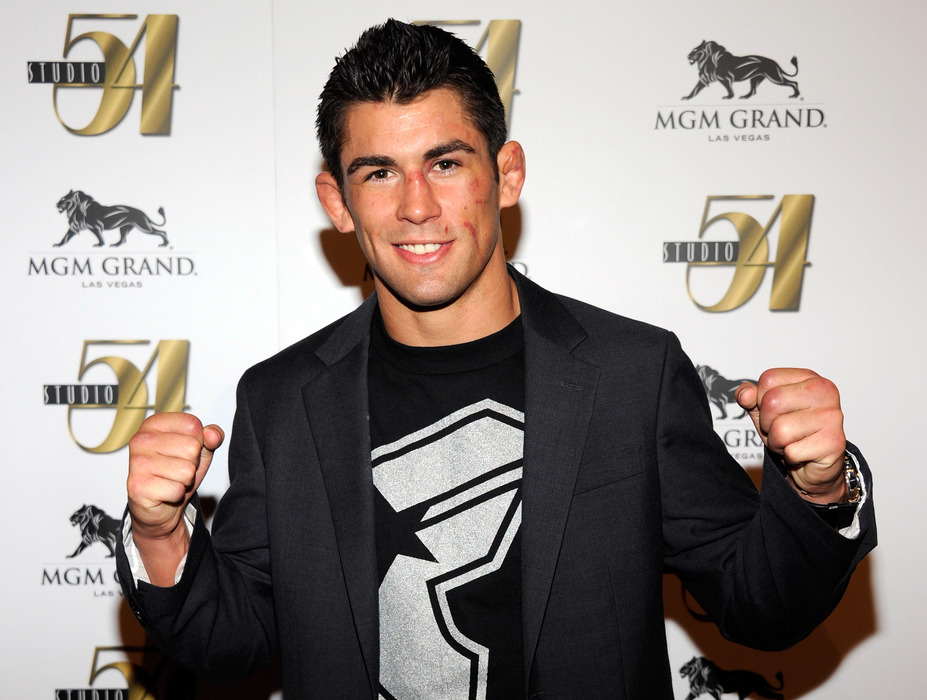 LAS VEGAS, NV - JULY 03:  Mixed martial artist Dominick Cruz arrives at a post-fight party for UFC 132 at Studio 54 inside the MGM Grand Hotel/Casino early July 3, 2011 in Las Vegas, Nevada.  (Photo by Ethan Miller/Getty Images for Studio 54)
