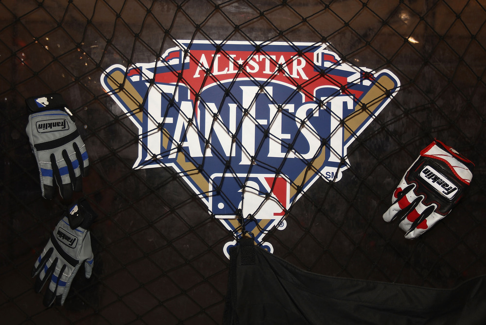 PHOENIX, AZ - JULY 08:  Detail of the MLB Fan Fest logo at the Phoenix Convention Center on July 8, 2011 in Phoenix, Arizona.  The 2011 MLB All-Star game will be held on July 12, at Chase Field.  (Photo by Christian Petersen/Getty Images)