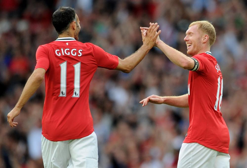 Will any of the lads on show tonight go on to become United Legends such as these two? (Photo by Chris Brunskill/Getty Images)