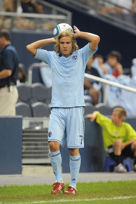 Sporting Kansas City right back Chance Myers is one of a few KC players that could eventually feature for the U.S. National Team. (Photo by G. Newman Lowrance/Getty Images)