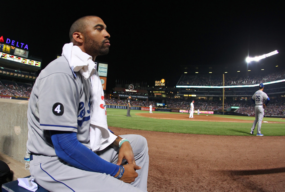 Somber thoughts for the best home grown positional Dodger since the turn of the century.  (Photo by Joe Murphy/Getty Images)