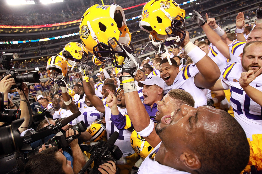 LSU's win over Oregon vaults them to the top spot in this weeks poll. It's easy to rise and fall with such a small sample size.