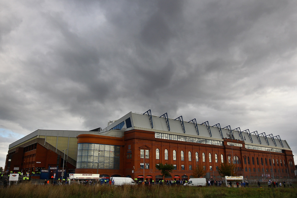 A general view of Ibrox Stadium ahead of the Clydesdale Bank Premier League match between Rangers and Celtic in Glasgow, Scotland.  (Photo by Jeff J Mitchell/Getty Images)
