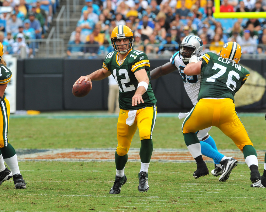 Aaron Rodgers put up a passer rating of 119.9 on Sunday, earning a lot of Cheesestradamus points for the APC community.