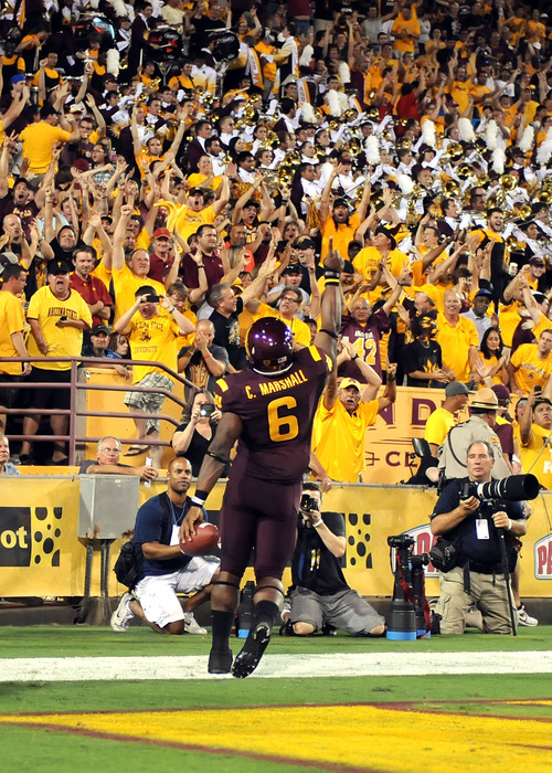 An amazing image from ASU's signature win. (Photo by Norm Hall/Getty Images)