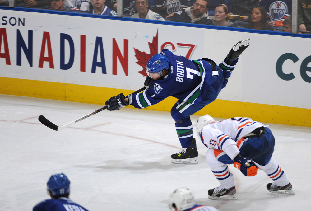 Still not used to seeing David Both in Canuck blue and green.