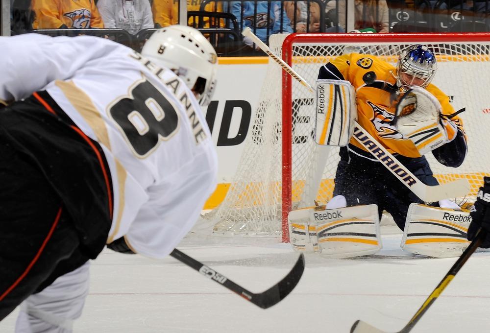 Giant spaghetti monster Pekka Rinne - Fantasy stud and nightmare for the Ducks