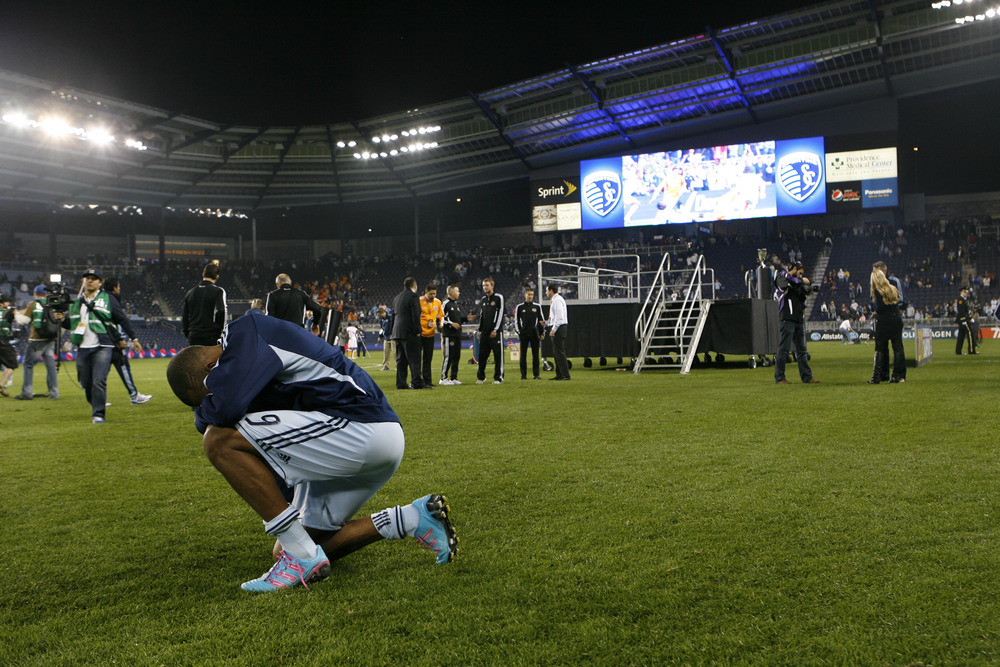 Nights like tonight will be hard for players like Teal Bunbury to endure, but it should only inspire, and motivate Sporting KC even more going into future seasons.  (Photo by Kyle Rivas/Getty Images)