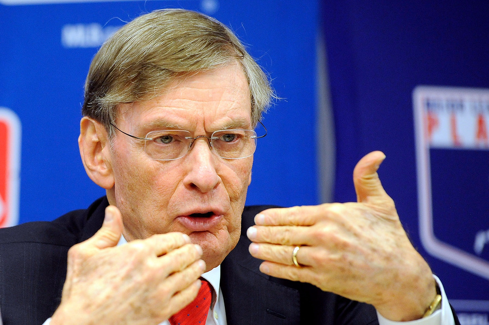 Major League Baseball Commissioner Bud Selig.  (Photo by Patrick McDermott/Getty Images)