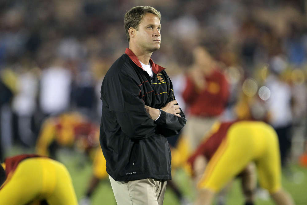 <strong>Top talent</strong>: USC coach Lane Kiffin has managed to receive six commitments from prospects included in the Rivals100 for the class of 2013.