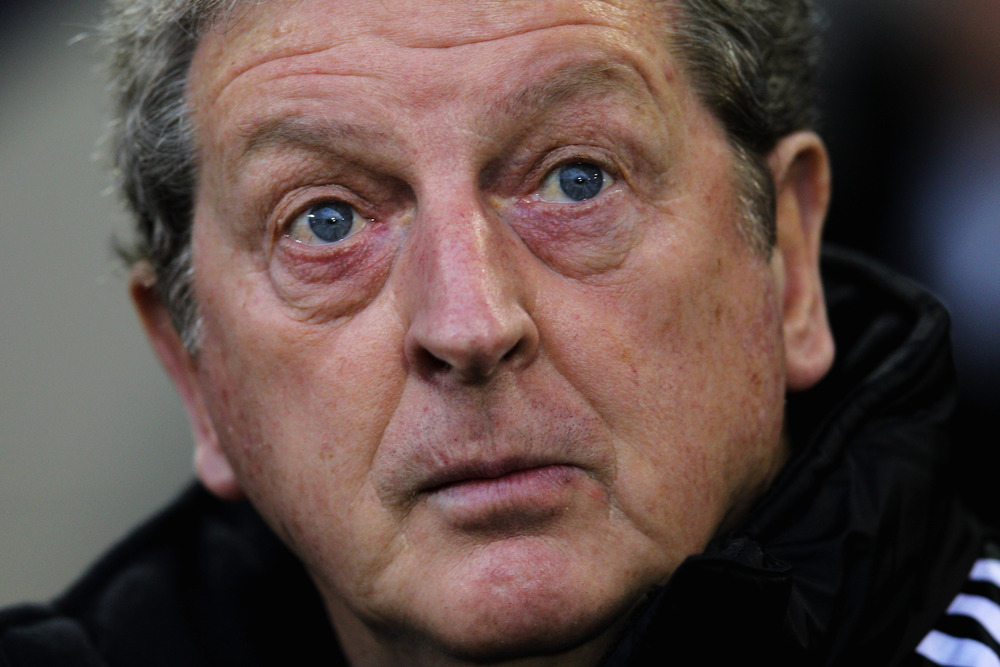 West Bromwich Manager Roy Hodgson looks on during the Barclays Premier League match between West Bromwich Albion and Manchester City at The Hawthorns in West Bromwich, England.  (Photo by Dean Mouhtaropoulos/Getty Images)