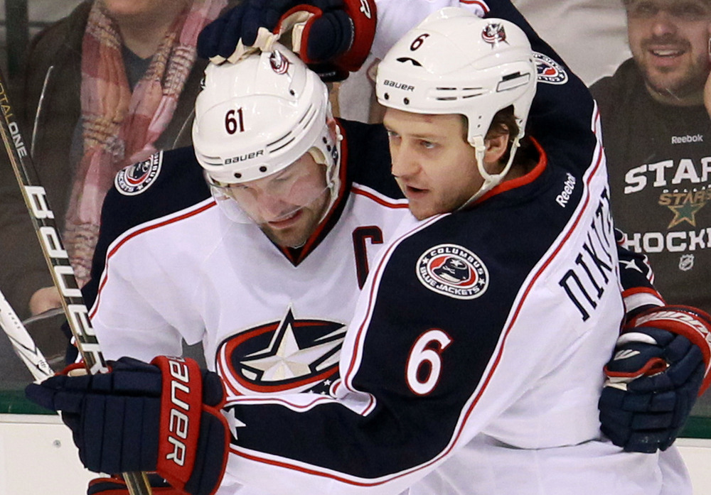 Nikita Nikitin #6 is playing at a 40-point pace.  He's also quite fond of Rick Nash.