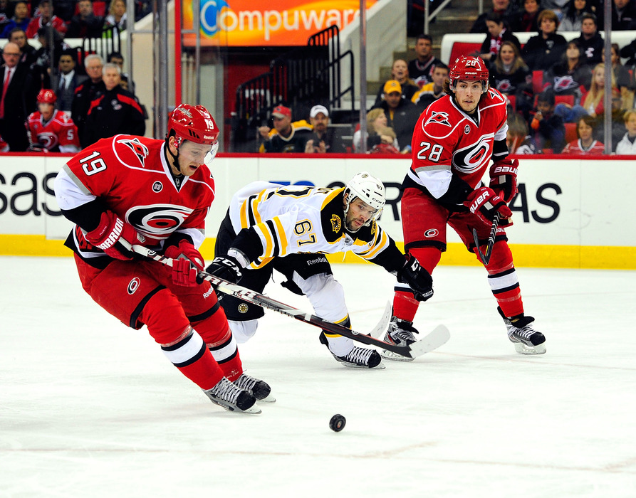 RALEIGH, NC - JANUARY 14:  Jiri Tlusty provided the Hurricanes with the most value for their money this season.  (Photo by Grant Halverson/Getty Images)