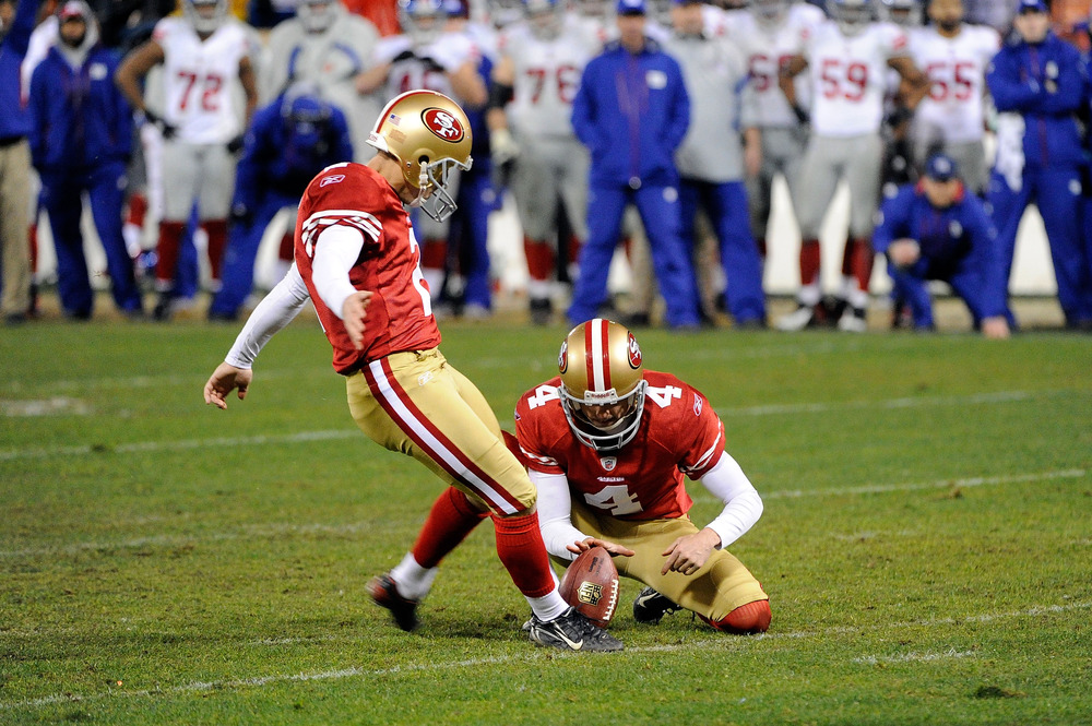 Kicker David Akers is among the personnel moves Tom Gamble is credited with in San Francisco.