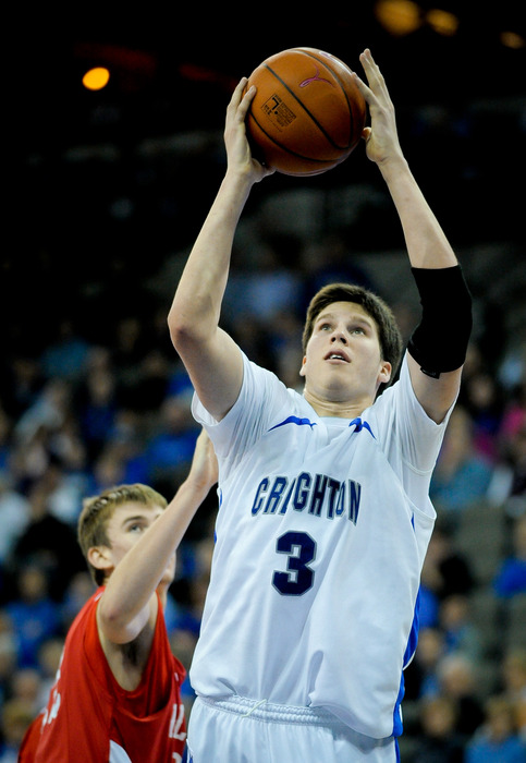 Doug McDermott #3 of the Creighton Bluejays is the leading scorer entering the tournament, but is he worthy of a first round Gunner Draft pick?