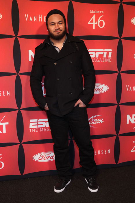 """INDIANAPOLIS, IN - FEBRUARY 03:  Professional football player Rey Maualuga attends ESPN The Magazine's """"NEXT"""" Event on February 3, 2012 in Indianapolis, Indiana.  (Photo by Robin Marchant/Getty Images for ESPN)"""