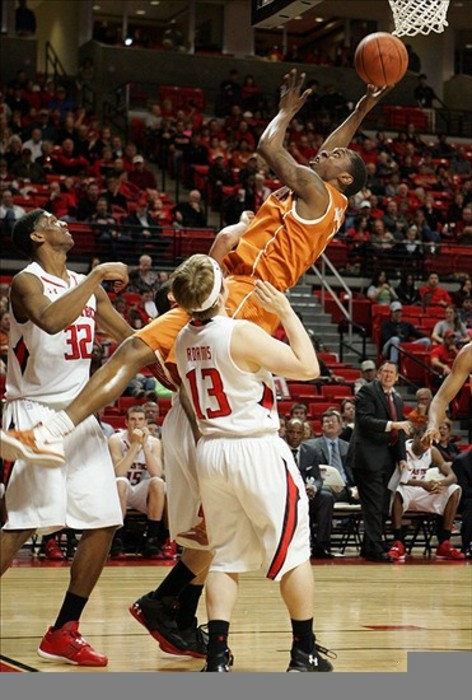 Feb 25, 2012; Lubbock, TX,  USA; Texas Longhorns forward Jaylen Bond (2) shoots against the Texas Tech Red Raiders in the first half at the United Spirit Arena. Mandatory Credit: Michael C. Johnson-US PRESSWIRE
