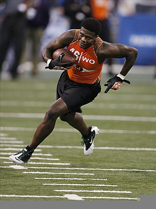 Feb 26, 2012; Indianapolis, IN, USA; Baylor Bears wide receiver Kendall Wright participates in a catch and run drill during the NFL Combine at Lucas Oil Stadium. Mandatory Credit: Brian Spurlock-US PRESSWIRE