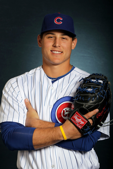 MESA, AZ - FEBRUARY 27:  Anthony Rizzo #44 of the Chicago Cubs poses during spring training photo day on February 27, 2012 in Mesa, Arizona.  (Photo by Jamie Squire/Getty Images)