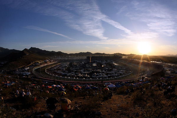 PHOENIX - APRIL 10:  A general view of race action during the NASCAR Sprint Cup Series SUBWAY Fresh Fit 600 at Phoenix International Raceway on April 10, 2010 in Phoenix, Arizona.  (Photo by Jeff Gross/Getty Images for NASCAR)