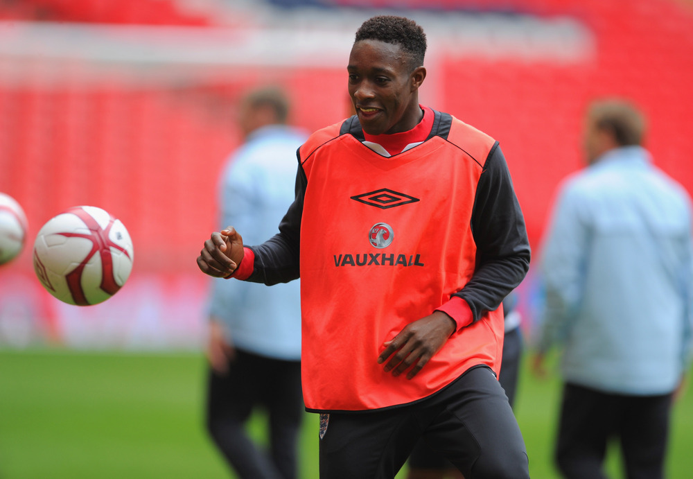 LONDON, ENGLAND - FEBRUARY 28:  Danny Welbeck looks on during the England Training and Press Conference at Wembley Stadium on February 28, 2012 in London, England.  (Photo by Michael Regan/Getty Images)