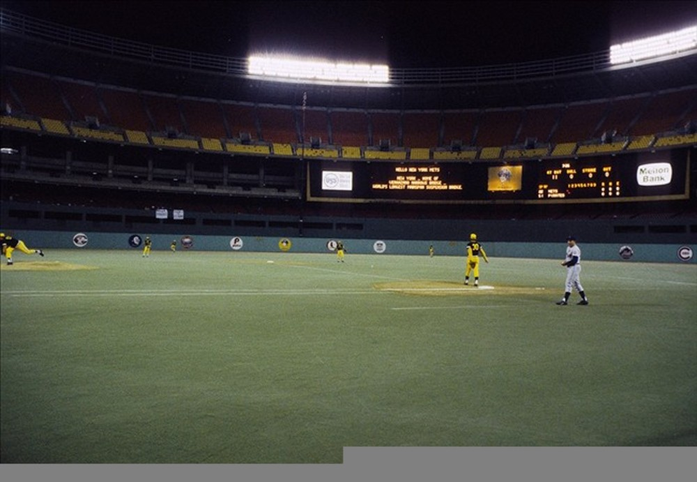 Unknown date; Pittsburgh, PA, USA: FILE PHOTO; A general view of Three Rivers Stadium prior to a game between the New York Mets and the Pittsburgh Pirates. Mandatory Credit: Darryl Norenberg-US PRESSWIRE