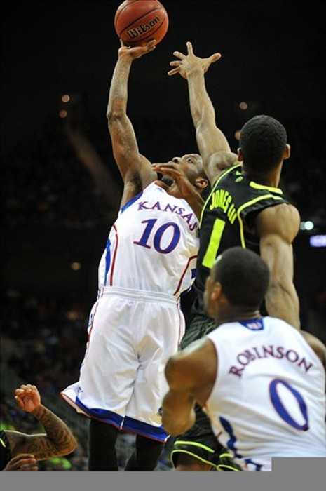 Will Tyshawn Taylor or Perry Jones advance further in the 2012 NCAA Tournament?