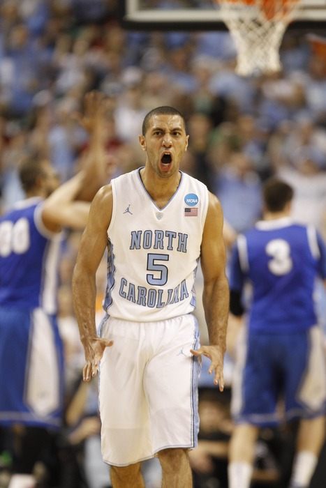 Kendall Marshall let's his frustration out on the court when he fails to achieve 3-stars in Angry Birds.... or something