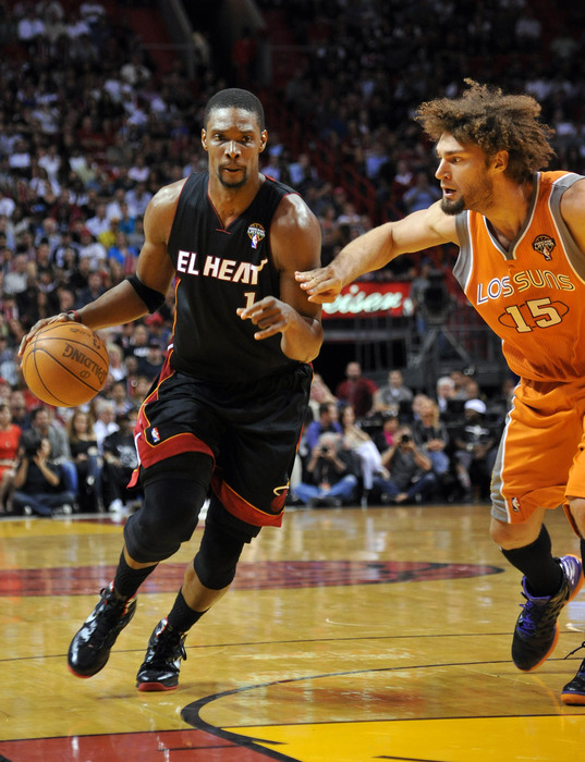 Is that a Chris Bosh sighting with Robin Lopez?