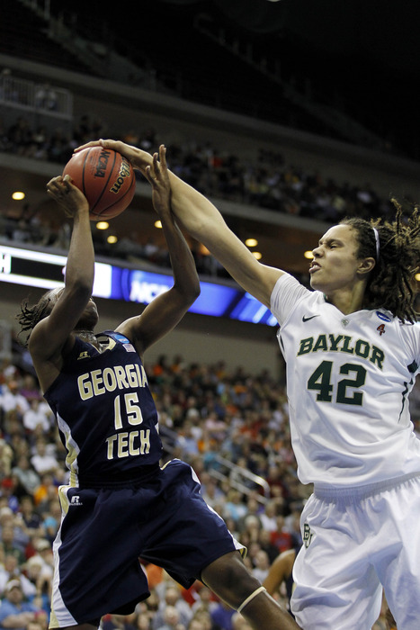 Baylor Lady Bears center Brittney Griner is obviously a prolific shot blocker, but her impact on the game can be quantified in other ways as well. <em>Matt Ryerson-US PRESSWIRE</em>