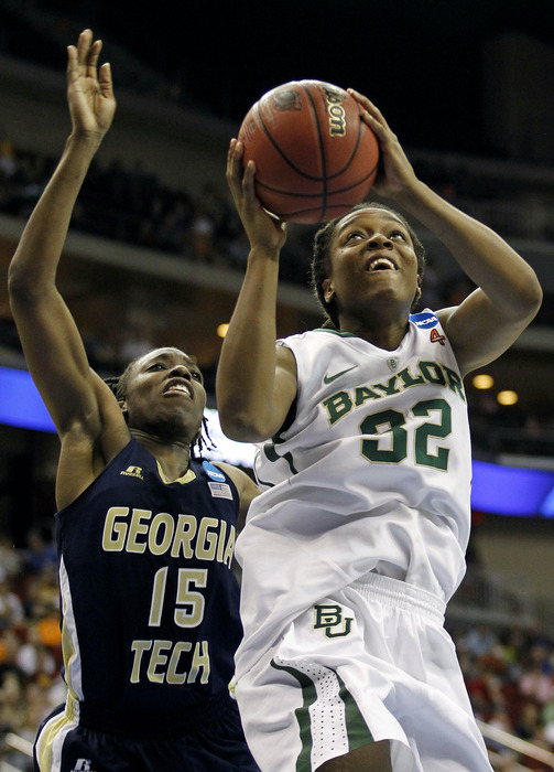 Although Brittney Griner is unquestionably the Baylor Lady Bears' MVP, Brooklyn Pope's (above) work on the offensive boards could be a key part of their success in the Final Four. <em>Matt Ryerson-US PRESSWIRE</em>