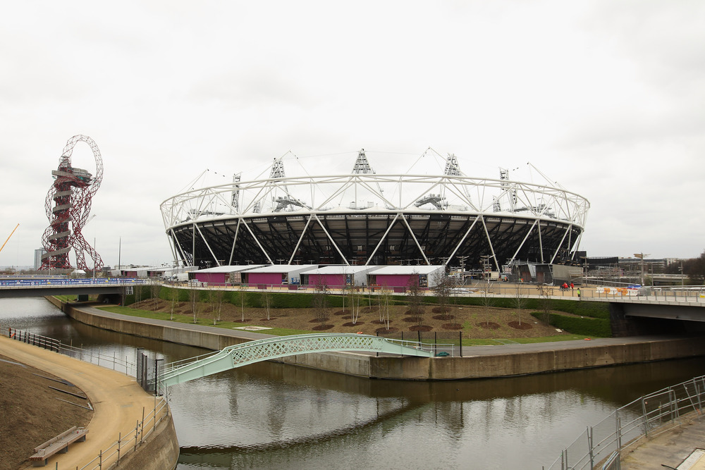 London's Olympic Stadium. Beauty, eh.  (Photo by Bryn Lennon/Getty Images)
