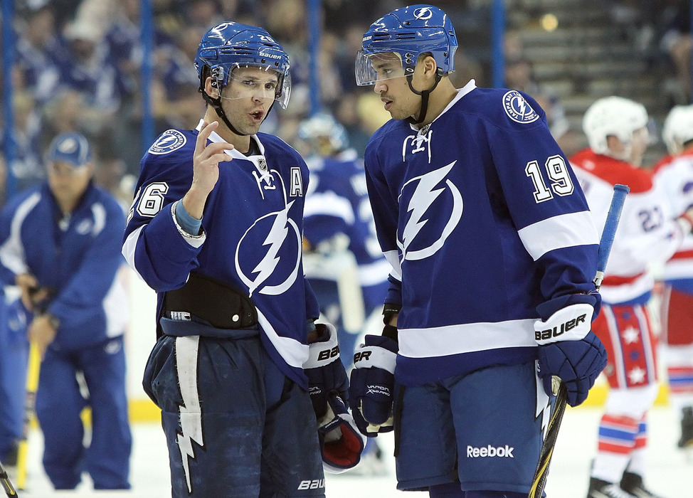 J.T. Brown is just one o fthe bright young prospects int he Tampa Bay Lightning system. Mandatory Credit: Kim Klement-US PRESSWIRE