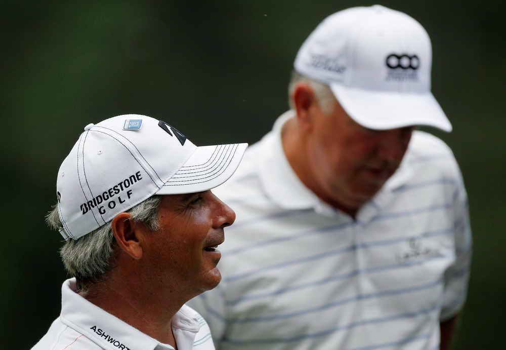 AUGUSTA, GA - APRIL 04:  Fred Couples looks on during the Par 3 Contest prior to the start of the 2012 Masters Tournament at Augusta National Golf Club on April 4, 2012 in Augusta, Georgia.  (Photo by Streeter Lecka/Getty Images)