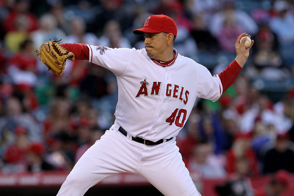 Brian Fuentes #40 of the Los Angeles Angels of Anaheim.