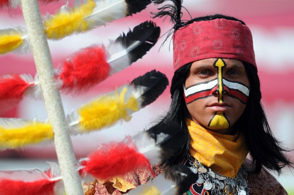 April 14, 2012; Tallahassee, FL, USA; Chief Osceola during the first half of the Florida State Seminoles spring game at Doak Campbell Stadium.  Mandatory Credit: Melina Vastola-US PRESSWIRE