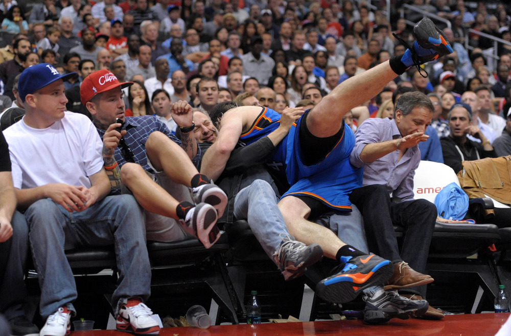 Nick Collison tried to bury his head in the sand after this one.