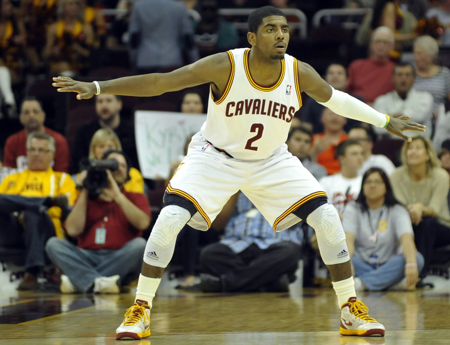 Kyrie begins his ascent.