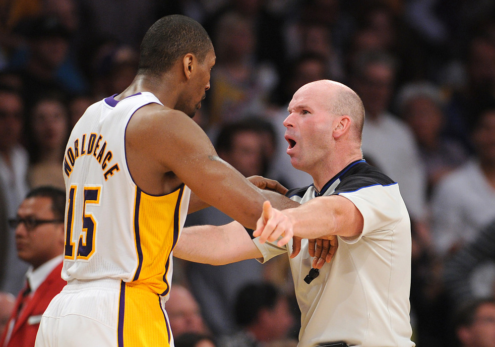 World Peace getting ejected from the game.
