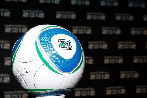 MONTREAL- MAY 7:  An MLS soccer ball on stage before the announcement that MLS will expan to Montreal in 2010 at the eXcentris auditorium on May 7, 2010 in Montreal, Quebec, Canada.  (Photo by Richard Wolowicz/Getty Images for MLS)