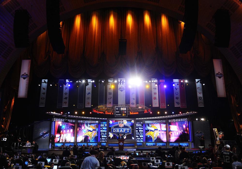 Apr 26, 2012; New York, NY, USA; A general view of the 2012 NFL Draft at Radio City Music Hall. Mandatory Credit: James Lang-US PRESSWIRE