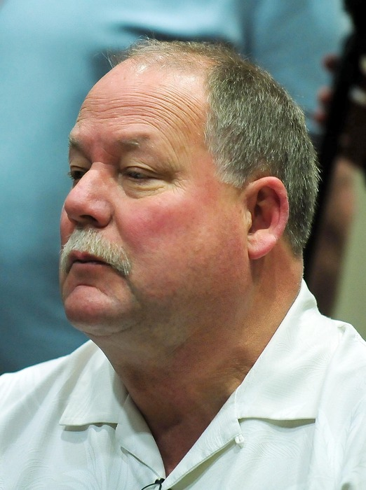 April 27, 2012; Berea, OH, USA; Cleveland Browns president Mike Holmgren in attendance during a press conference at the Cleveland Brown training facility. Mandatory Credit: Andrew Weber-US PRESSWIRE