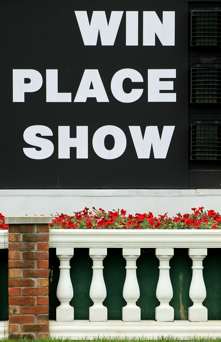 LOUISVILLE, KY - MAY 05:  Signs are seen on the infield during the 138th running of the Kentucky Derby at Churchill Downs on May 5, 2012 in Louisville, Kentucky.  (Photo by Jamie Squire/Getty Images)