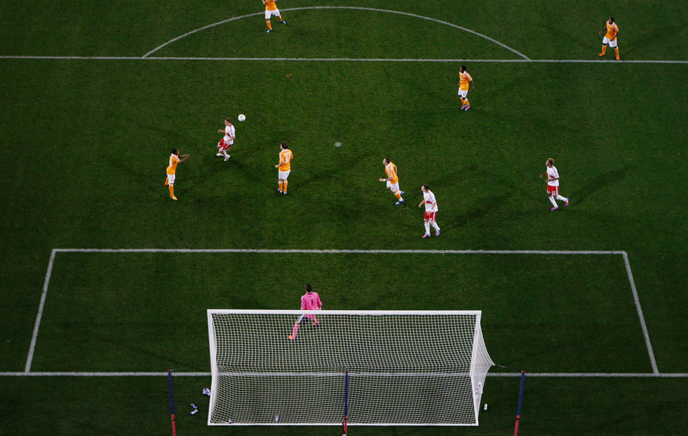HARRISON, NJ - MAY 09: A general view of the action between the New York Red Bulls and the Houston Dynamo at Red Bull Arena on May 9, 2012 in Harrison, New Jersey.  (Photo by Mike Stobe/Getty Images for New York Red Bulls)