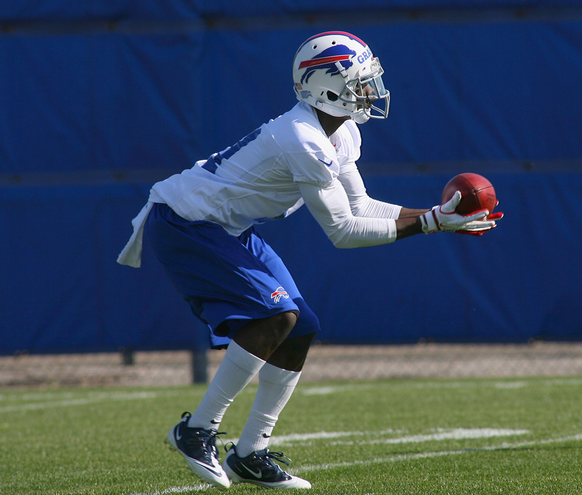 ORCHARD PARK, NY - MAY 11:  T.J. Graham #11 of the Buffalo Bills receives punts during  Buffalo Bills Rookie Camp on May 11, 2012 in Orchard Park, New York.  (Photo by Rick Stewart/Getty Images)